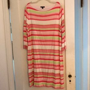 Brooks Brother candy stripped stretchy dress